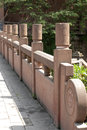 Stone railing the railings in china Royalty Free Stock Image