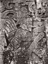 Stone relief detail in chichen itza a archaeological site yucatan mexico Royalty Free Stock Images