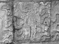 Stone relief detail in chichen itza a archaeological site yucatan mexico Stock Images