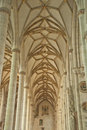 Stone roof structure in Ulm Minster Royalty Free Stock Images