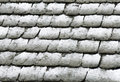 Stone roof under snow Royalty Free Stock Photo