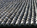 Stone roofing Stock Image