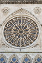 Stone rosette of the Leon cathedral Royalty Free Stock Photography