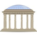 Stone rotunde with glass dome vector eps Royalty Free Stock Photos