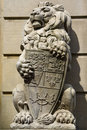 Stone Royal Lion Statue Royalty Free Stock Photo