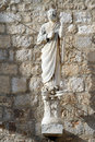 Stone saint Stock Image