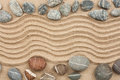 Stone with sand as background concept Royalty Free Stock Photos