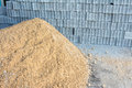 Stone and sand are used as raw materials for construction Royalty Free Stock Photo