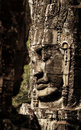Stone sculpture in Bayon Wat,Siem Reip,Cambodia Stock Photo