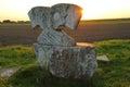 Stone Sculpture In Morning Light