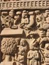 Stone Sculptures in Sanchi, Madhya Pradesh Royalty Free Stock Photo