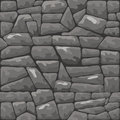 Stone seamless pattern vector illustration of grey Stock Photography