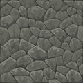 Stone seamless pattern vector illustration of grey Royalty Free Stock Images