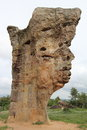 Stone shaped face human mor hin khao chaiyaphum big come from nature change Stock Images