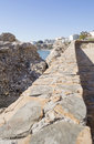 Stone sill to sit on the costa del sol outdoor Royalty Free Stock Images