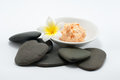 Stone spa therapy Royalty Free Stock Image