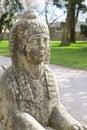 Stone sphinx στον κήπο Στοκ Εικόνες