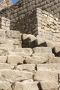 Stone staircase,  Inca ruins Royalty Free Stock Photo