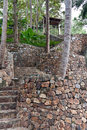 Stone staircase in the jungles Stock Photos