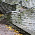 Stone staircase leading up close Royalty Free Stock Photos