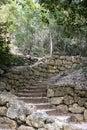 Stone staircase in the national park near Skradin, Croatia Royalty Free Stock Photo