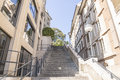 Stone stairs between the buildings in geneva switzerland Royalty Free Stock Photos