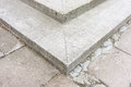 Stone stairs close up of and pavement Royalty Free Stock Photography