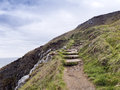 Stone stairs on the coast, Ireland Royalty Free Stock Image