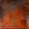 Stone stairs in the old paper background Stock Photos