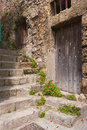 Stone stairs old in tours france Stock Images