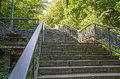 Stone stairs on a steep mountain pathway Royalty Free Stock Photography