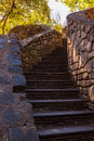Stone stairs in Stone Mountain Park, Georgia, USA Royalty Free Stock Photo