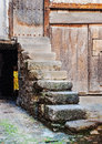 Stone stairs in the village Royalty Free Stock Photo