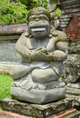Stone statue of an ancient deity indonesia bali Royalty Free Stock Photo