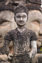 Stone statue of Buddhist influence in Laos Stock Images