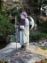 Stone statue of a Buddhist pilgrim in Japan Royalty Free Stock Photo