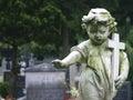 Stone Statue Child Royalty Free Stock Photo