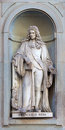 Stone statue of francesco redi depicting historical character Stock Photo