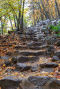 Stone steps in Baraboo, WI Royalty Free Stock Photo