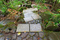 Stone Steps at Japanese Garden Autumn Season Royalty Free Stock Photo