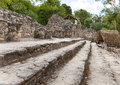 Stone steps mexico kabah mayan ruins in mexico Royalty Free Stock Photos