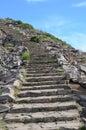 Stone steps on mountain. Royalty Free Stock Photo