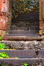 Stone steps tourist path small city saarburg rheinland pfalz germany Stock Photo