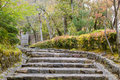 Stone steps way in japan in kyoto with a staircase of Royalty Free Stock Photography