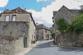 Stone street in france Stock Photo