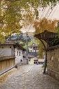 Stone street in the revival city of  Koprivshtitza Royalty Free Stock Photo