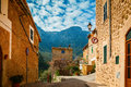 Stone street in the small village Deia Royalty Free Stock Photo