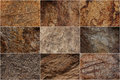Stone surfaces with different textures Royalty Free Stock Photo
