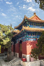 Stone tablet pavilion at confucian temple which located guozijian street beijing Stock Images