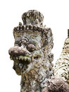 Stone temple guardian on bali an ornate carved statue that stands at the entrance to the inner sanctuary of the pura dalem or of Royalty Free Stock Image